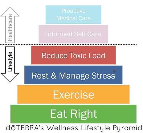 doterra wellness lifestyle pyramid