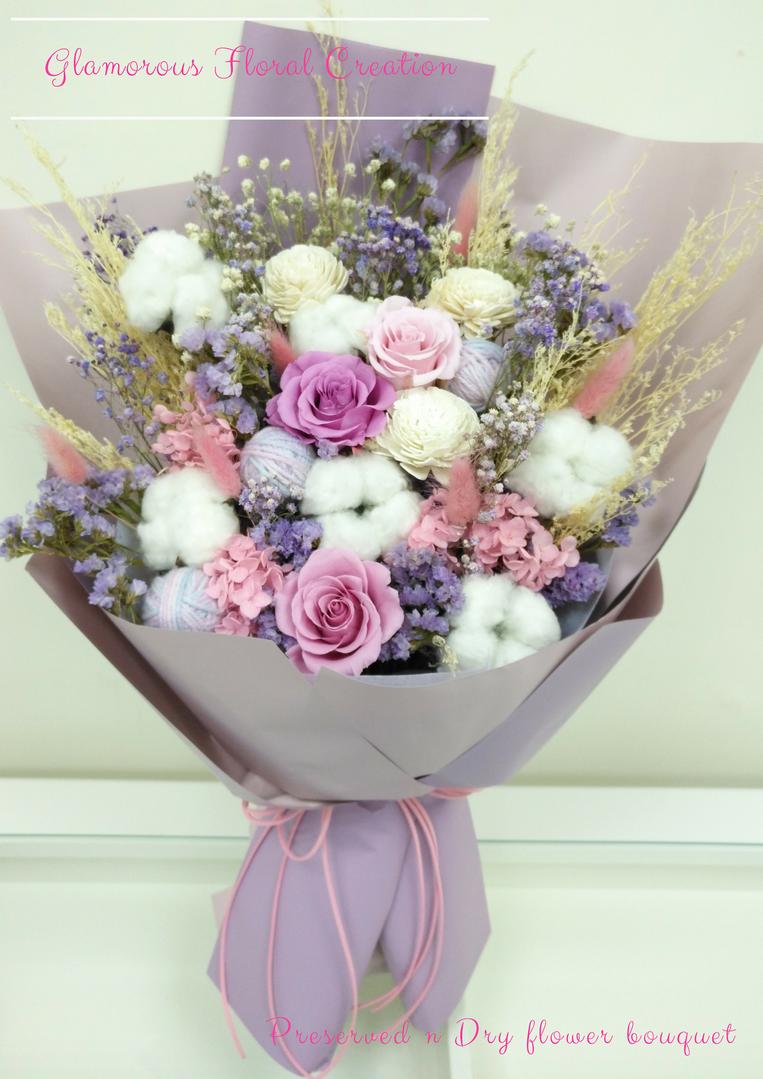 保鮮花乾花花束/Preserved flower & dry flower bouquet