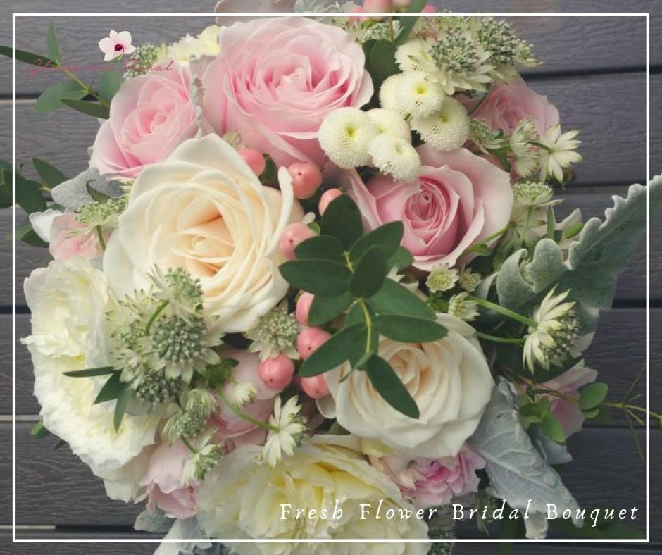 粉紅香檳玫瑰庭園玫瑰鮮花花球
