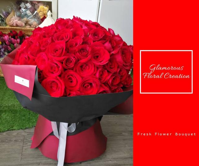 118枝紅玫瑰求婚鮮花花束