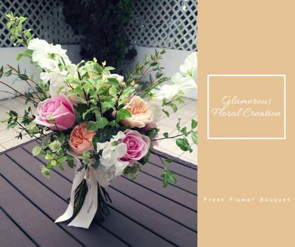 庭園玫瑰瑪莉亞玫瑰鮮花花束