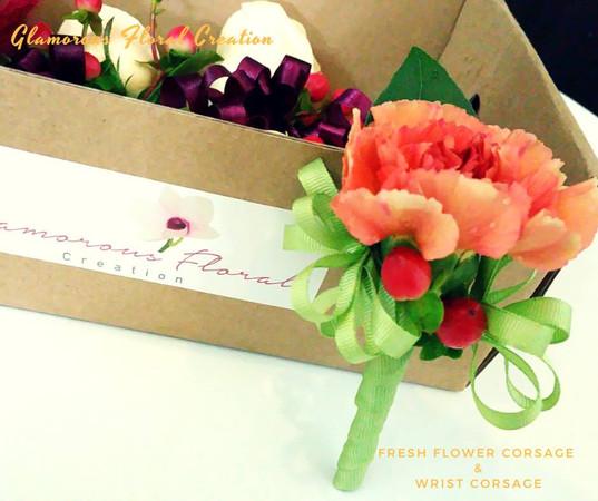 鮮花襟花手花/Fresh Flower Corsage