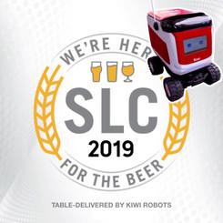 Table-delivery by autonomous-riding robots