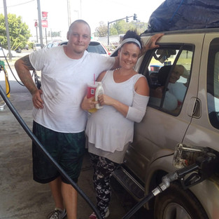 This couple was pan handling because they were out of gas and trying to make it to Texas.  His mother needed help taking care of his autistic brother.  Easy fix with a full tank of gas.