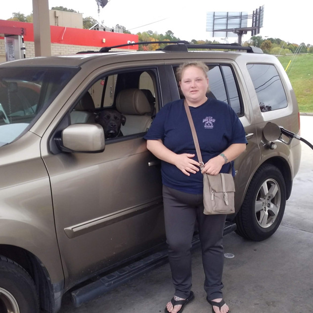This woman was displaced from her home by Hurricane Irma.  She was living in her car for days trying to scrape up money to get back home.  The CHF filled her tank up, received a gas and food gift card so she could make it home.