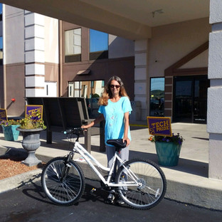 Beth was homeless for several weeks.  She was starting a job and need a hand up.  The CHF placed her in a hotel for a few days, got her a bike and food.