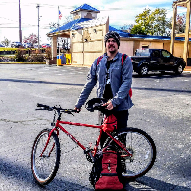 Danny needed a bike to get to and from work.  The CHF got him a bike and a necessities bag.