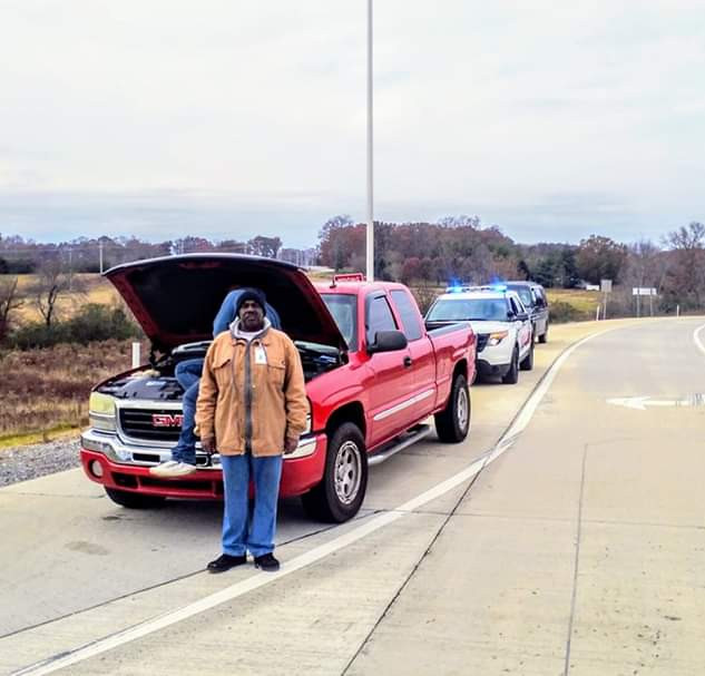 Engine belt broke and left stranded off of I-40.  The man was broke and slept in the truck all night in frigid temps.  The CHF had him towed to a repair shop and got him fixed up so he could drive back home.