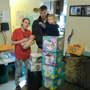 This family need a hand up to make ends meet.  The CHF got them food, diapers and a bed for one of their children.
