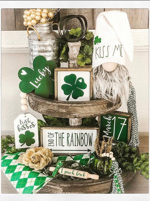 St. Patrick's Day Themes tiered trays set / Saint Paddy's Day