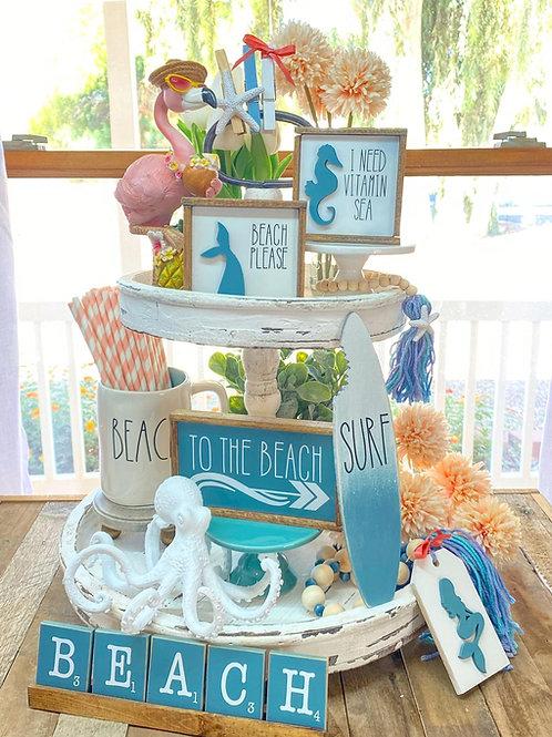 Beach / Ocean /Mermaid themed tiered tray set