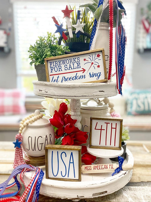 4th of July / Independence Day tiered tray set