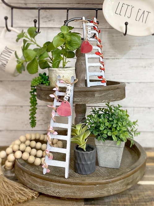 "Valentine's tiered tray mini ladder 9"""