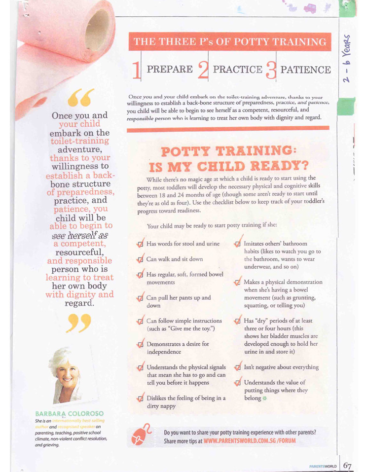 Toilet training Page 2