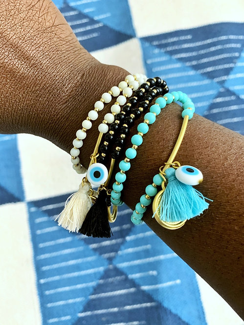 Double Wrap Bracelet | Evil Eye