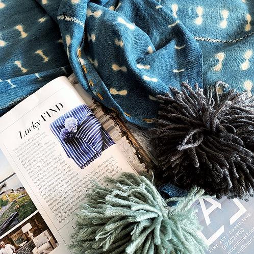 VB | Indigo Pom Blanket
