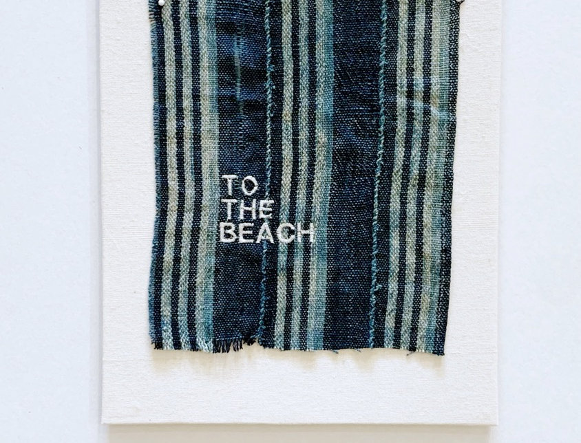 Embroidered Vintage Fabric | To The Beach