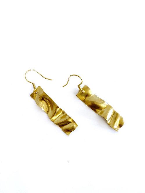 Hammered Brass Earring