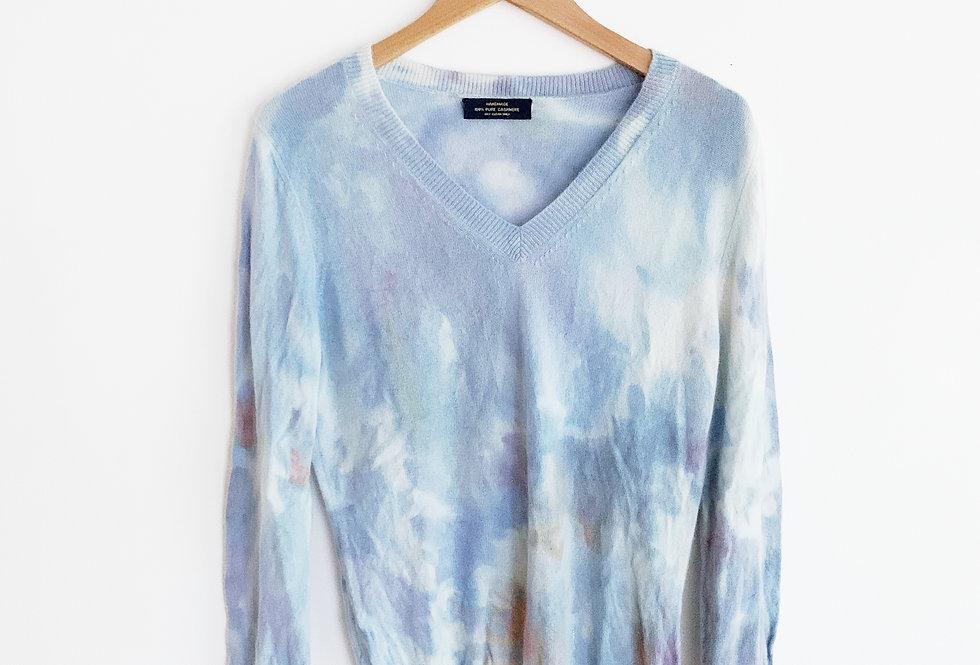 Dyed Cashmere Sweater | Size Medium