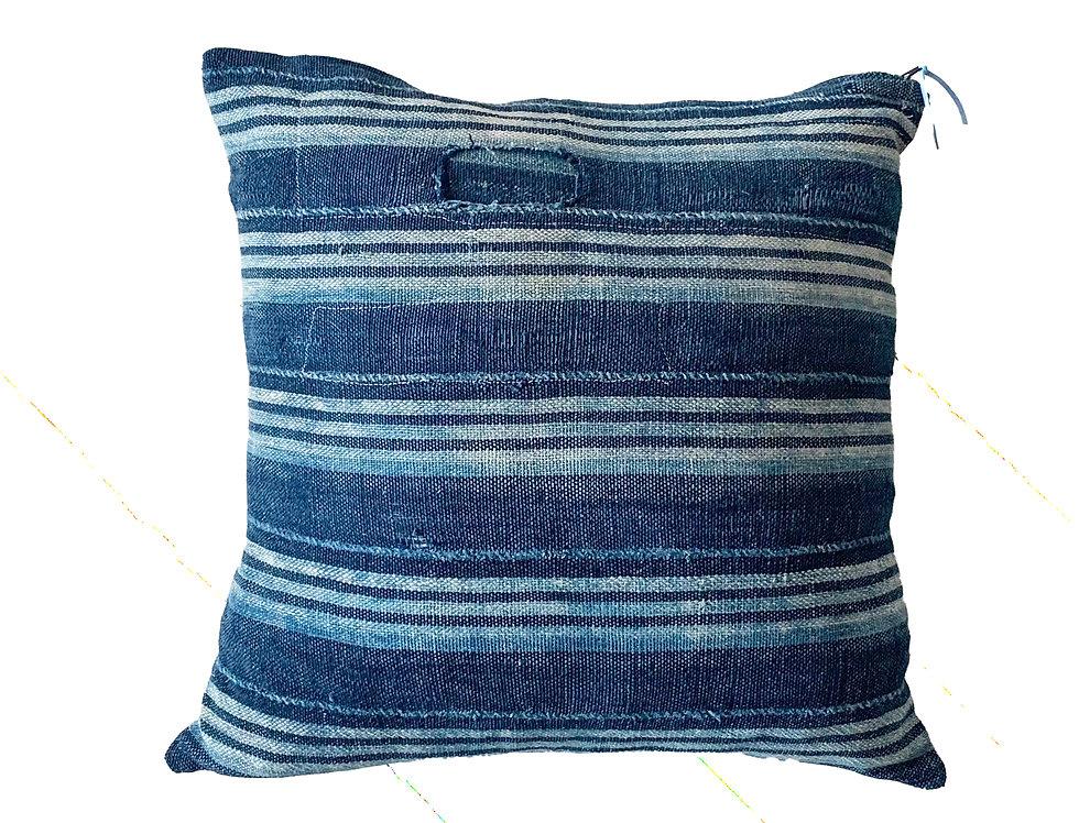 Vintage Stripe Indigo Pillow