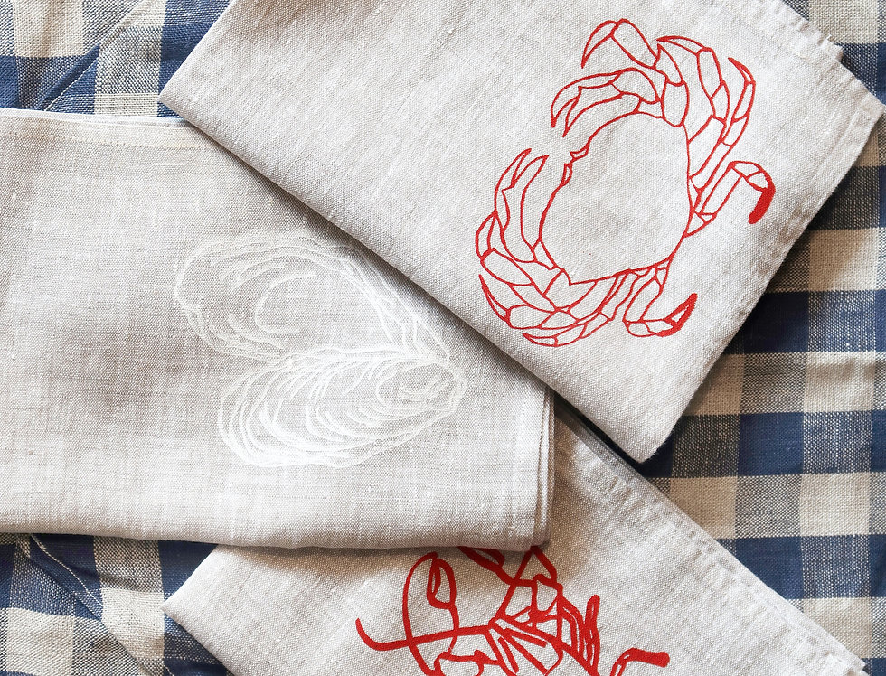 Shell Fish Tea Towels