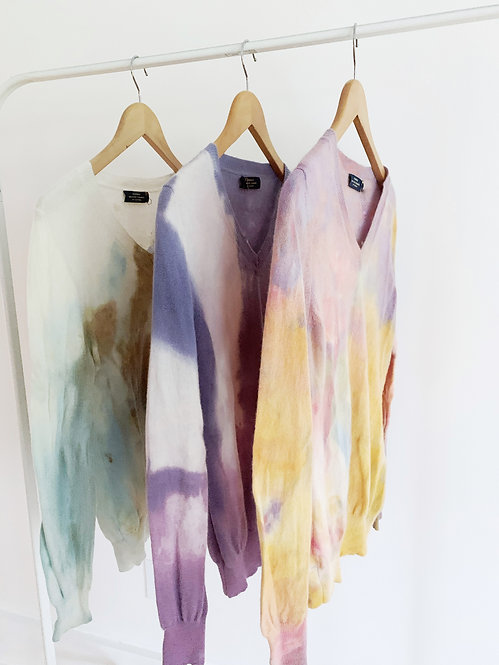 Dyed Cashmere Sweater | Small