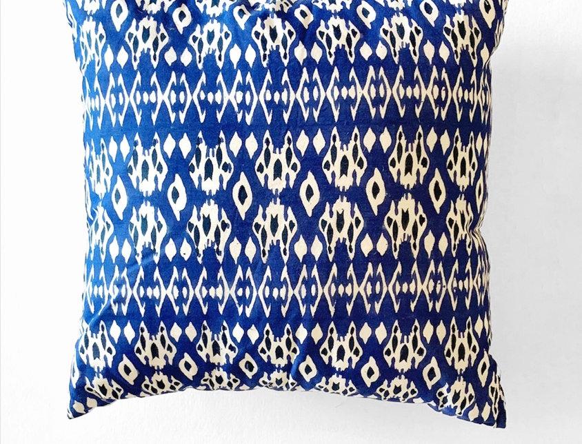 Ikat Block Print Pillow