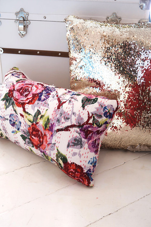 VB | Rose Kantha Pillow