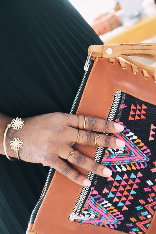VB | Leather Patch Clutch