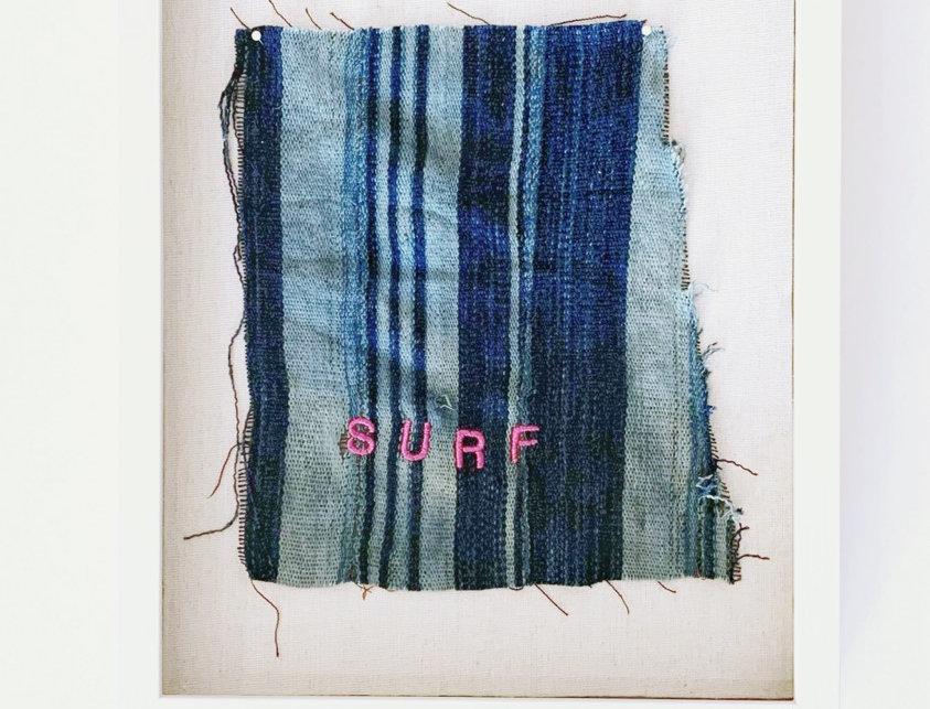 Embroidered Vintage Fabric | Surf