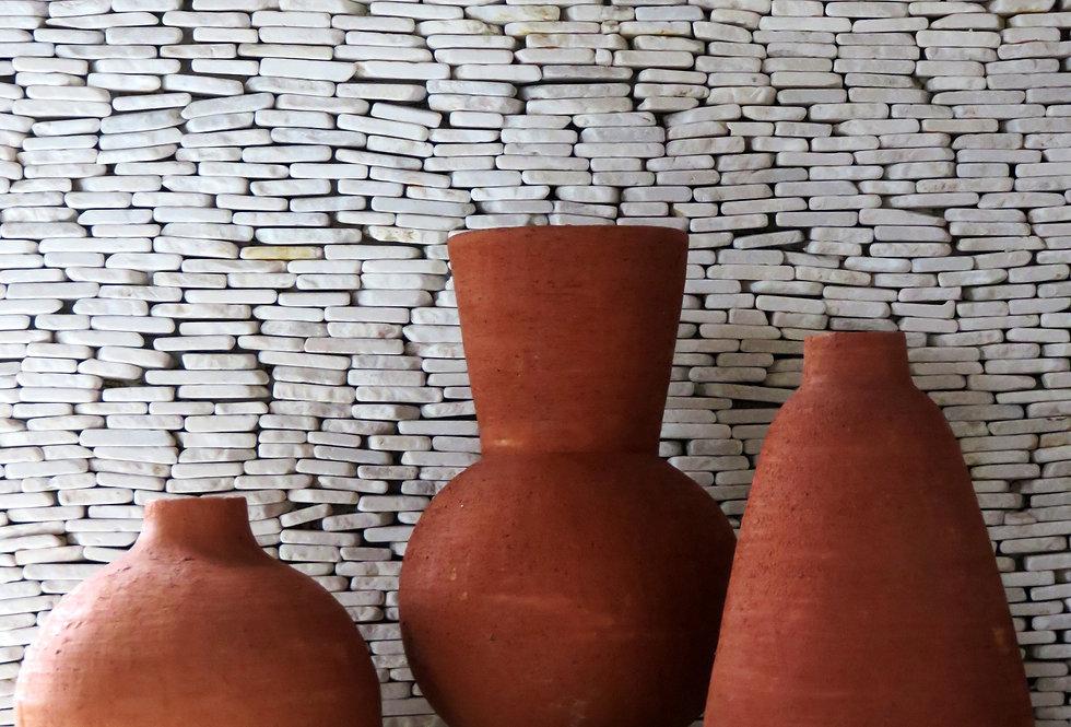 Ceramic Vase   Terracotta Orange