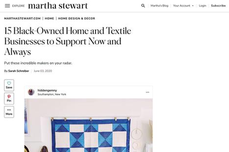 Martha Stewart.com   June, 2020