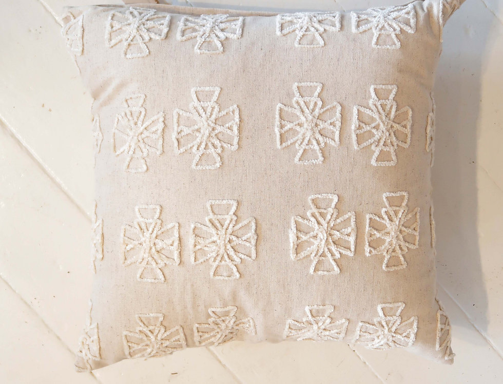 Cross Embroidered Pillow