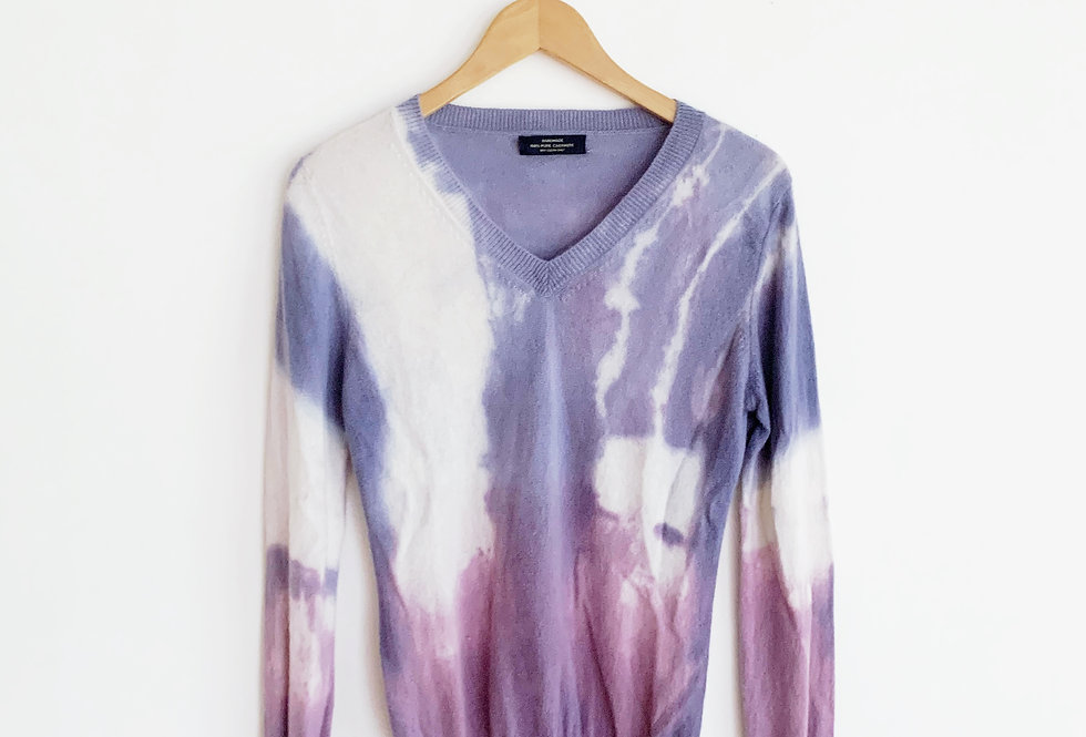 Dyed Cashmere Sweater | Size Small