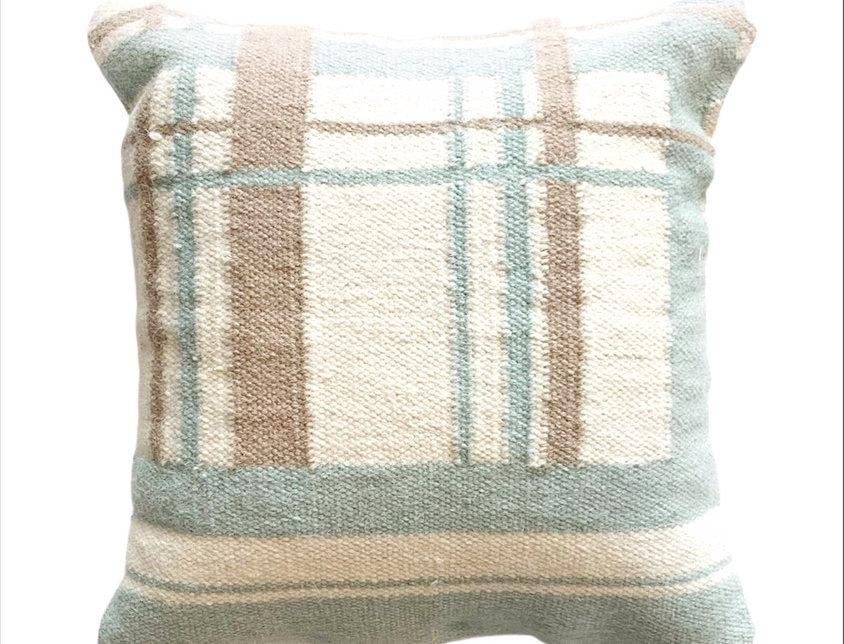 Amagansett Plaid | Dhurrie Pillow