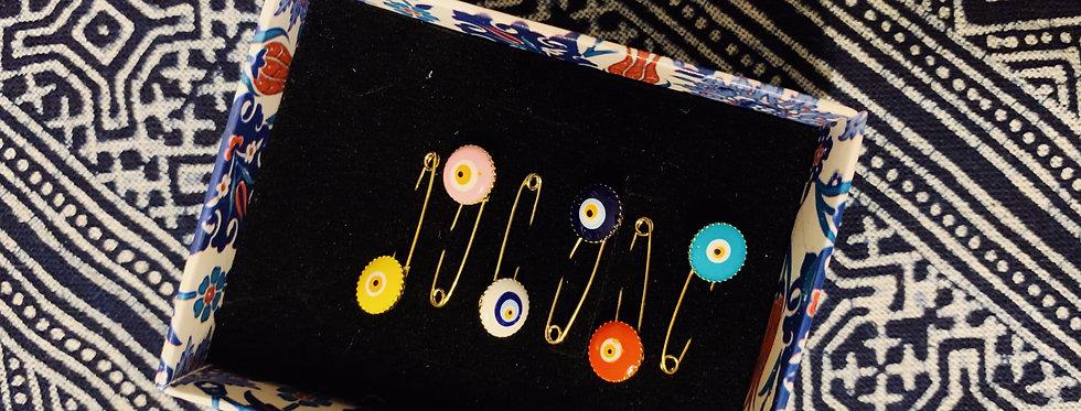 Evil Eye Mini Pin Set
