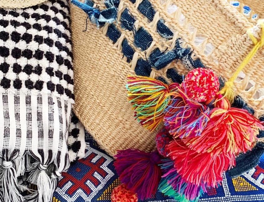 Woven Culture Bag   Medium