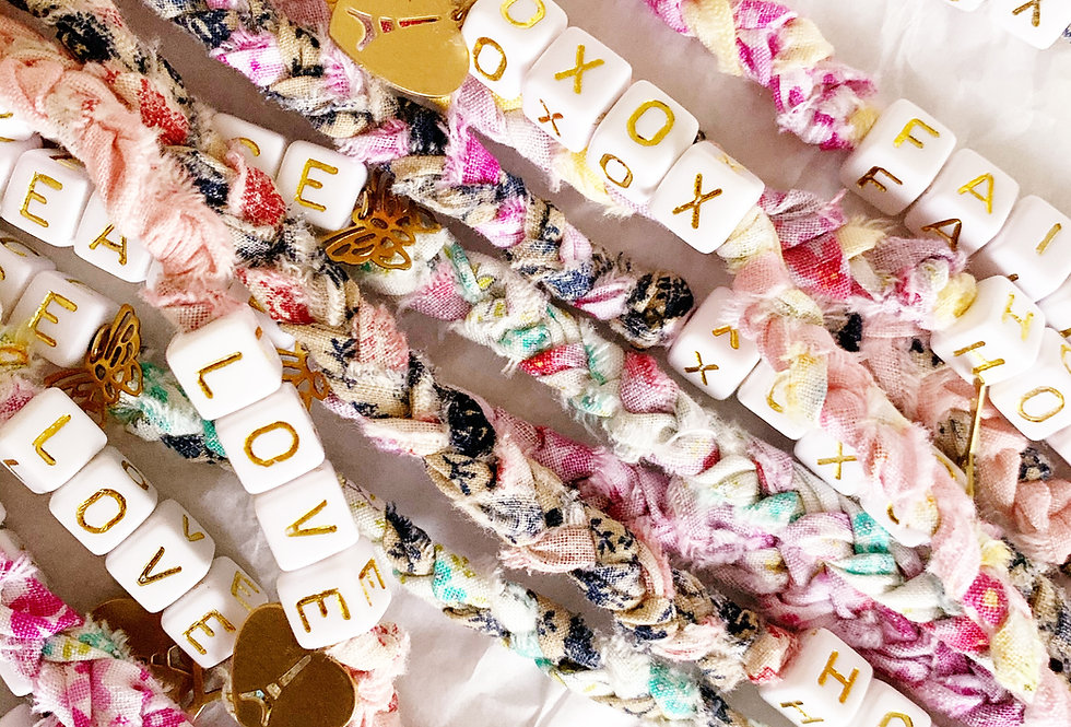 Word Bracelet | Shabby For Me X Hidden Gem