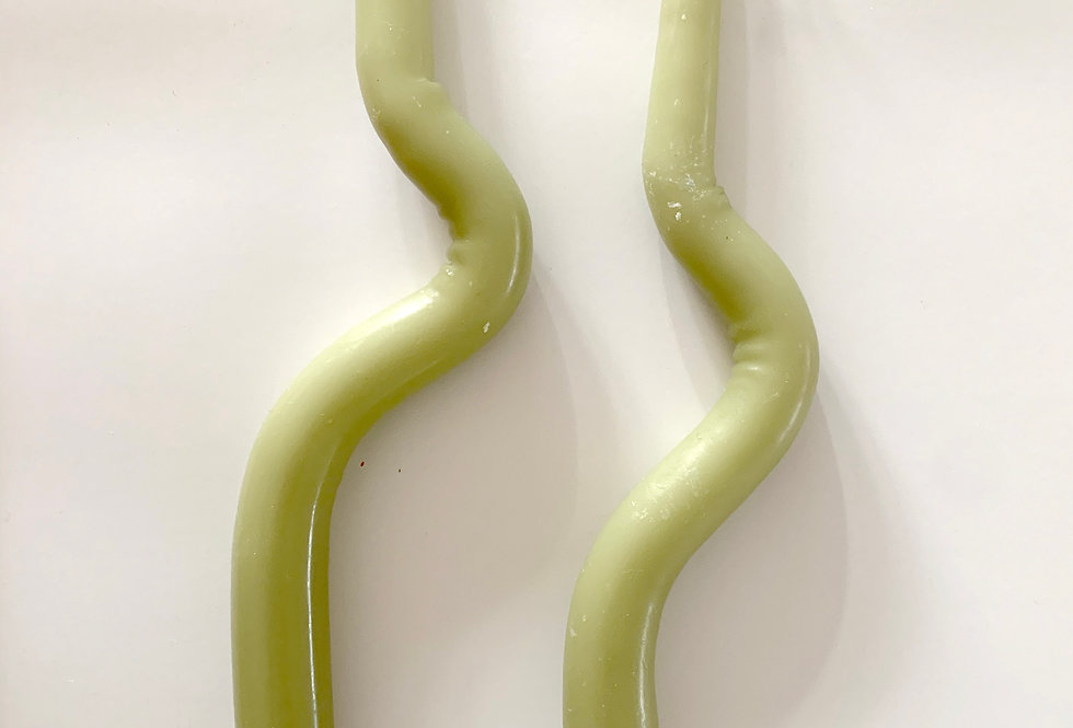 Bent Candles | Set of 2 | Green