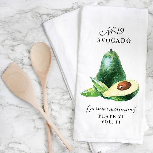 Avocado Botanical Tea Towel