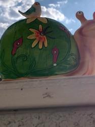 Decorative Floral Snail Solar Light