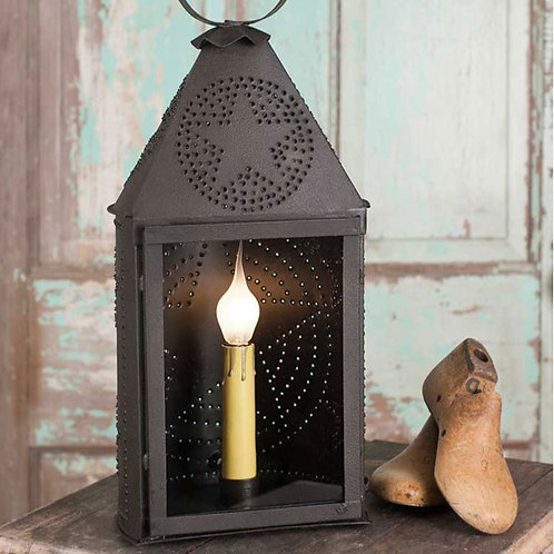 Small Half-Round Lantern with Punched Star