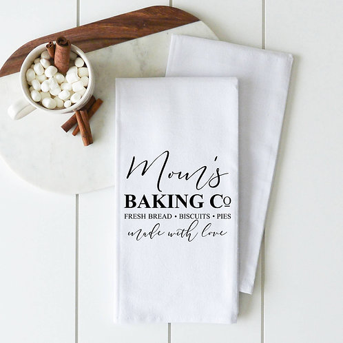 Mom's Baking Co Tea Towel