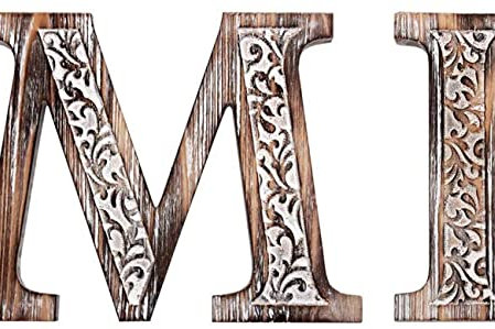 Rustic Carved Family Letters Sign