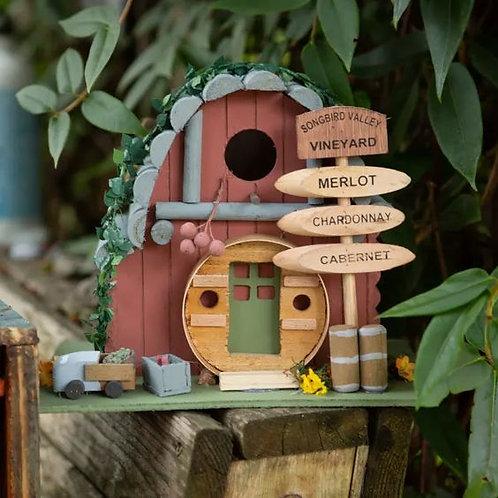Vintage Winery Birdhouse