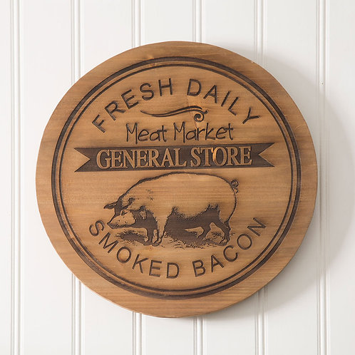 General Store Wood Lazy Susan