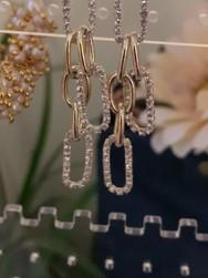 Crystal Paperclip Earrings