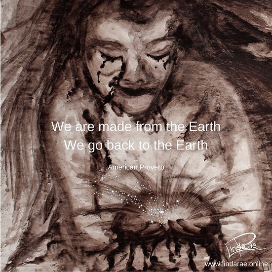 Mother Earth Digital Tiles with Earth Quote