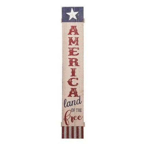 47 in. Multicolor 4th of July Americana Sign Décor