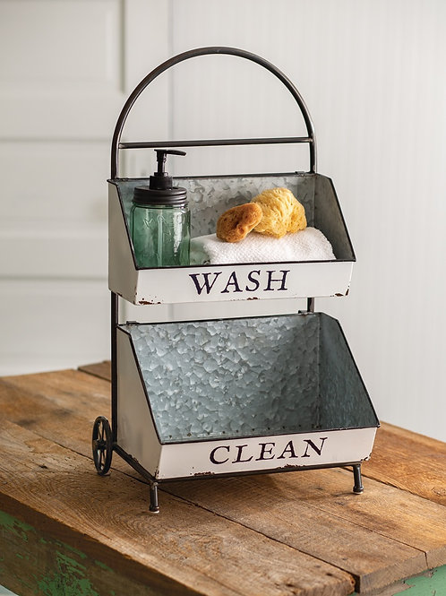 Wash and Clean Two-Tier Caddy